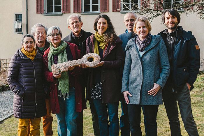 Schlüsselübergabe im Kulturkloster Altdorf.